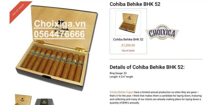 Xì gà Cohiba Behike 52,54,56 - Hộp 10 điếu giá bao nhiêu?