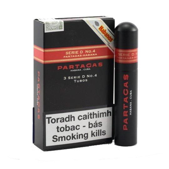 Xì gà Partagas Serie D No.4 Tubos – Hộp 3 điếu