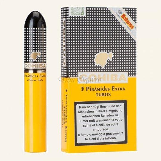 Xì gà Cohiba Piramides Extra Tubos - Hộp 3 điếu