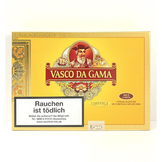 Xì gà Vasco Da Gama No 2 Maduro Coronas Brasil- Hộp 25 điếu