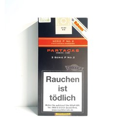 Xì gà Partagas Serie P No.2 Tubos  - Hộp 3 điếu