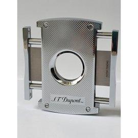Cắt S T Dupont MaxiJet Cigar Cutter Chrome Grid 003257