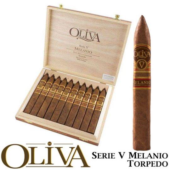 Xì gà Oliva Serie V Melanio Torpedo - Hộp 10 điếu