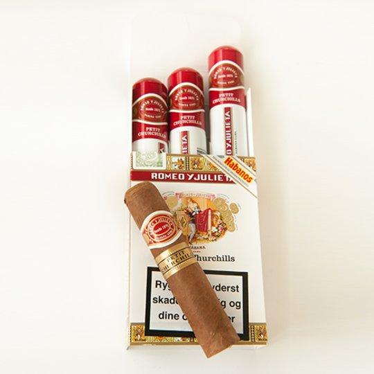 Xì gà Romeo y Julieta Petit Churchill Tubos - Hộp 3 điếu