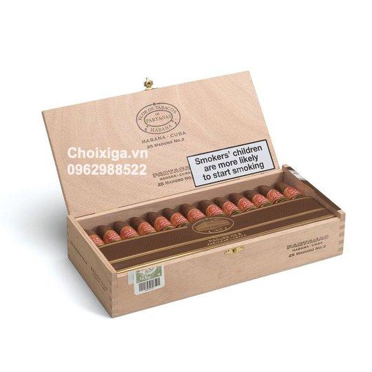 Xì gà Partagas Maduro No. 2 - Hộp 25 điếu
