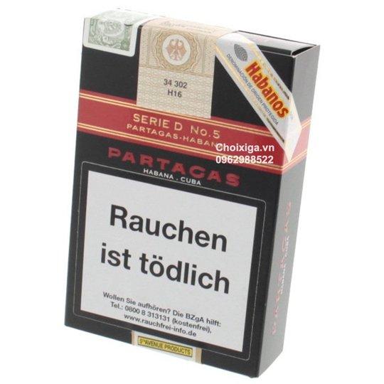 Xì gà Partagas Serie D No. 5 Tubos - Hộp 3 điếu