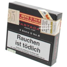 Xì gà Partagas Serie D No. 6 Tubos - Hộp 5 điếu