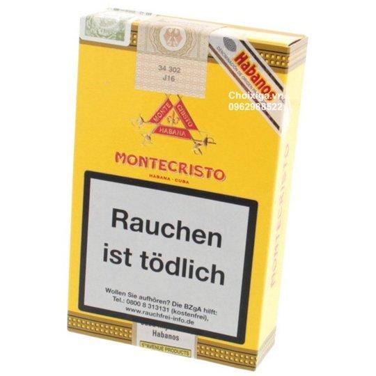 Xì gà Montecristo Petit No. 2 Tubos - Hộp 3 điếu