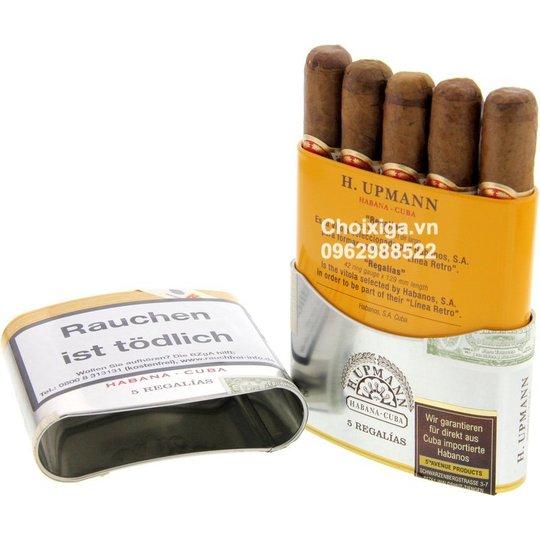 Xì gà H. Upmann Regalias - Hộp Thiếc 5 điếu